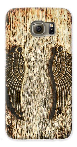 Bronze Angel Wings Galaxy S6 Case