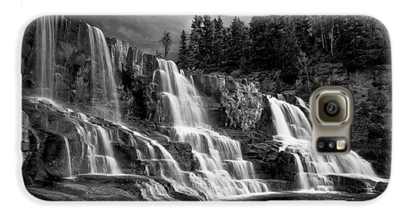 Galaxy S6 Case featuring the photograph Brooding Gooseberry Falls by Rikk Flohr
