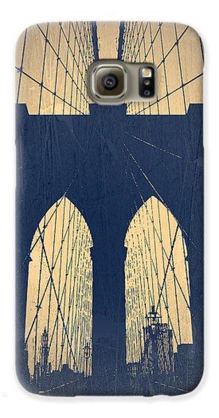 Brooklyn Bridge Galaxy S6 Case - Brooklyn Bridge Blue by Naxart Studio