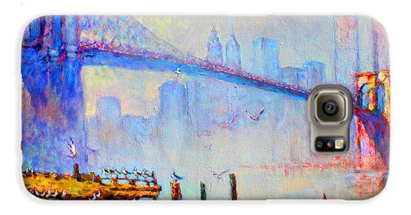 Brooklyn Bridge In A Foggy Morning Galaxy S6 Case