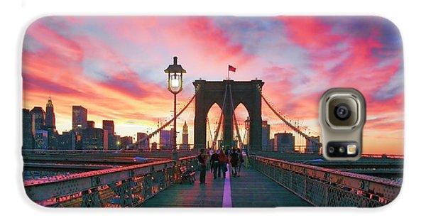 Landscapes Galaxy S6 Case - Brooklyn Sunset by Rick Berk