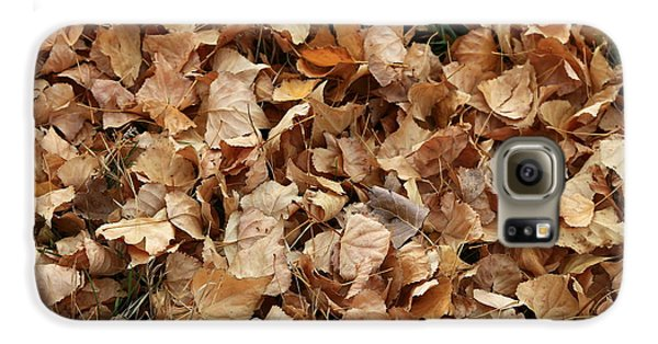 Brown Leaf Carpet Galaxy S6 Case