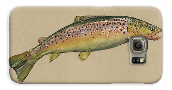 Brown Trout Jumping Galaxy S6 Case by Juan Bosco