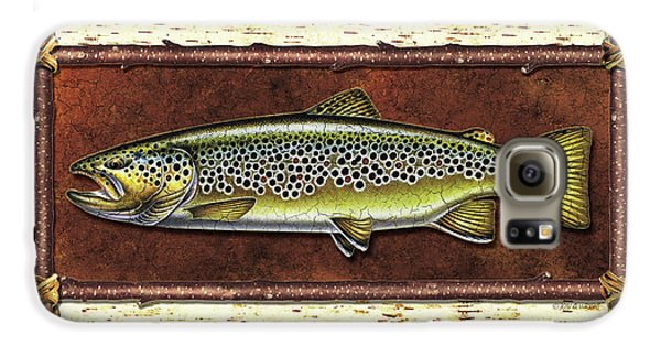 Brown Trout Lodge Galaxy S6 Case by JQ Licensing