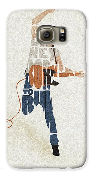Bruce Springsteen Galaxy S6 Case - Bruce Springsteen Typography Art by Inspirowl Design