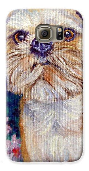 Griffon Galaxy S6 Case - Brussels Griffon by Lyn Cook