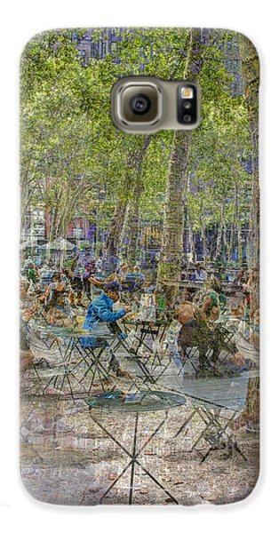 Bryant Park Collage 2 Galaxy S6 Case by Dave Beckerman
