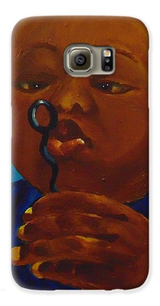 Galaxy S6 Case featuring the painting Bubbles by Saundra Johnson