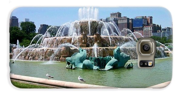 Buckingham Fountain Galaxy S6 Case by Anita Burgermeister