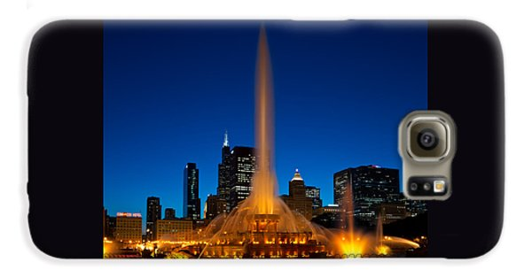 Chicago Galaxy S6 Case - Buckingham Fountain Nightlight Chicago by Steve Gadomski
