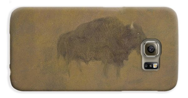Buffalo In A Sandstorm Galaxy S6 Case by Albert Bierstadt