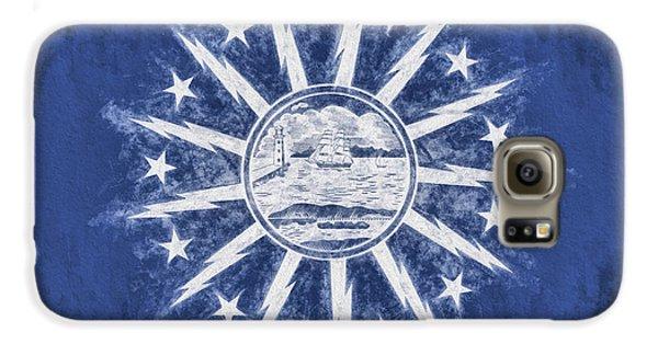Galaxy S6 Case featuring the digital art Buffalo Ny City Flag by JC Findley