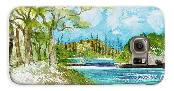 Bugny Trees At Kanumera Bay, Ile Des Pins Galaxy S6 Case