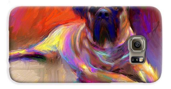 Bullmastiff Dog Painting Galaxy S6 Case