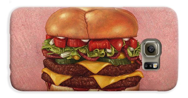 Tomato Galaxy S6 Case - Burger by James W Johnson