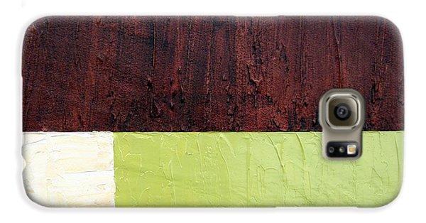 Burgundy Cream Pickle Galaxy Case by Michelle Calkins