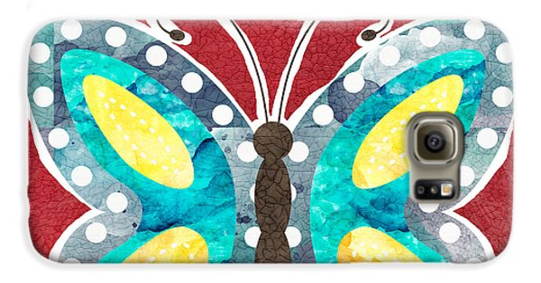 Butterfly Liberty Galaxy S6 Case by Linda Woods