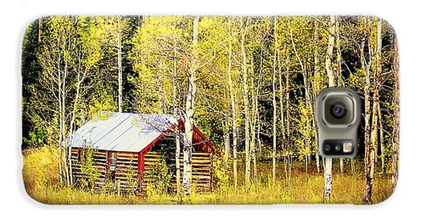 Cabin In The Golden Woods Galaxy S6 Case by Karen Shackles