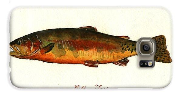 Trout Galaxy S6 Case - California Golden Trout Fish by Juan  Bosco