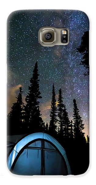 Galaxy S6 Case featuring the photograph Camping Star Light Star Bright by James BO Insogna