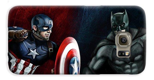 Captain America Vs Batman Galaxy S6 Case