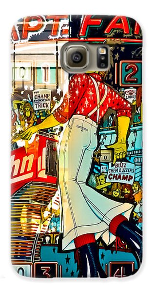 Captain Fantastic - Pinball Galaxy S6 Case by Colleen Kammerer