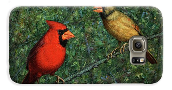 Cardinal Galaxy S6 Case - Cardinal Couple by James W Johnson