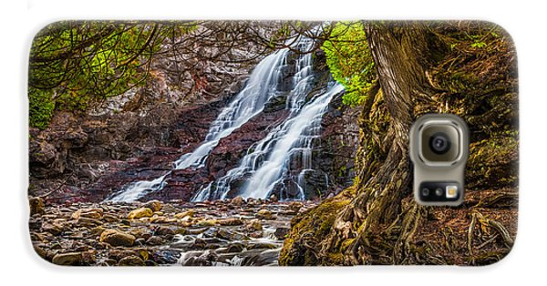 Galaxy S6 Case featuring the photograph Caribou Falls In Fall by Rikk Flohr