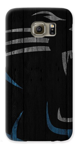 Caroilina Panthers Wood Fence Galaxy S6 Case by Joe Hamilton