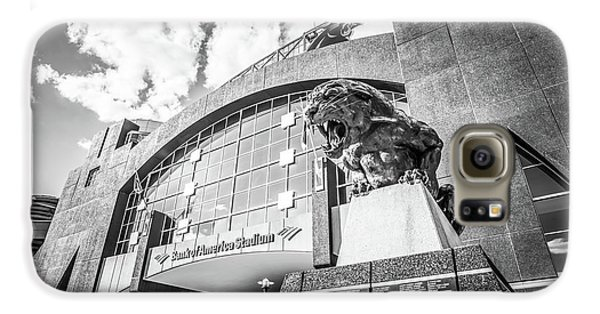 Carolina Panthers Stadium Black And White Photo Galaxy S6 Case by Paul Velgos