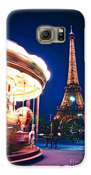 Carousel And Eiffel Tower Galaxy S6 Case by Elena Elisseeva