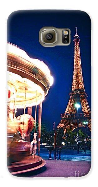 Travel Galaxy S6 Case - Carousel And Eiffel Tower by Elena Elisseeva