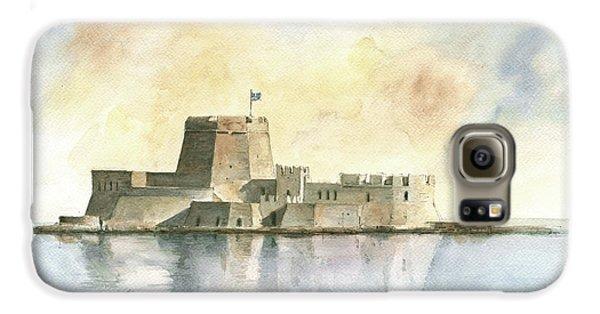 Castle Of Bourtzi In Nafplio Galaxy S6 Case by Juan Bosco