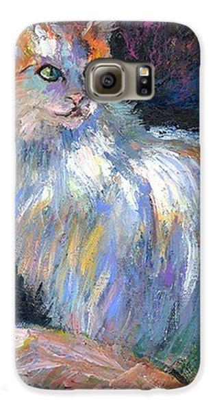 Galaxy S6 Case - Cat In A Sun Painting By Svetlana by Svetlana Novikova