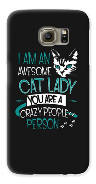 Cat Lady Galaxy S6 Case by Jackie Robinson