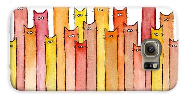 Cats Autumn Colors Galaxy S6 Case by Olga Shvartsur