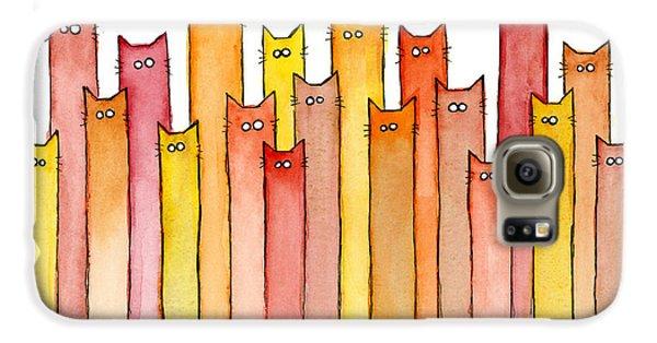 Cat Galaxy S6 Case - Cats Autumn Colors by Olga Shvartsur