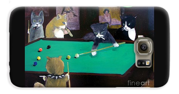 Cats Playing Pool Galaxy S6 Case