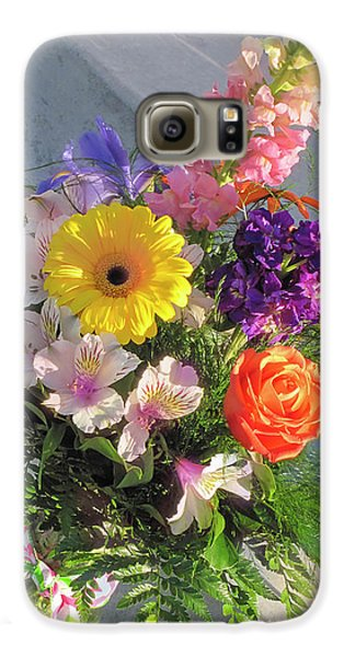 Galaxy S6 Case featuring the photograph Celebrate With A Bright Bouquet by Nancy Lee Moran