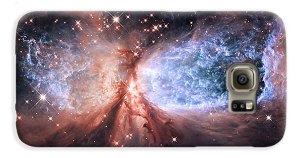 Galaxy S6 Case featuring the photograph Celestial Snow Angel - Enhanced - Sharpless 2-106 by Adam Romanowicz