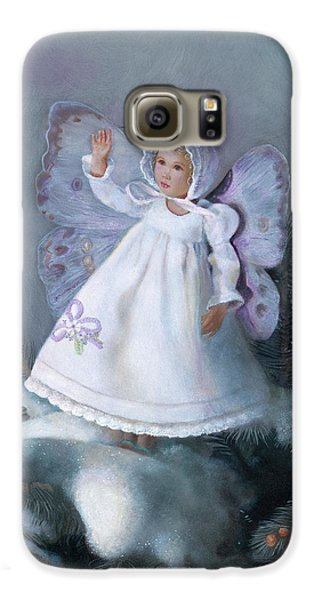 Galaxy S6 Case featuring the painting Celestine Snow Fairy by Nancy Lee Moran
