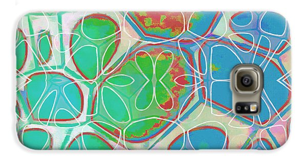 Blue Galaxy S6 Case - Cell Abstract 10 by Edward Fielding