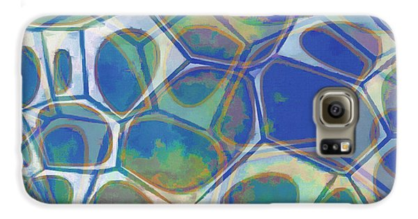 Blue Galaxy S6 Case - Cell Abstract 13 by Edward Fielding