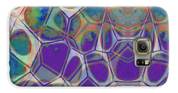 Blue Galaxy S6 Case - Cell Abstract 17 by Edward Fielding
