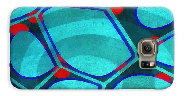 Blue Galaxy S6 Case - Cell Abstract 6a by Edward Fielding