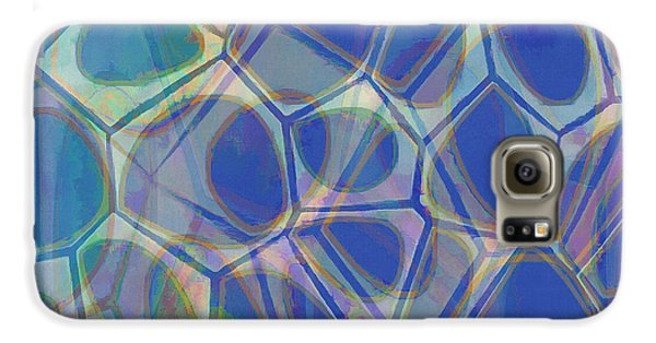 Blue Galaxy S6 Case - Cell Abstract One by Edward Fielding