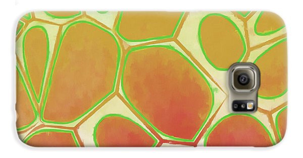 Blue Galaxy S6 Case - Cells Abstract Five by Edward Fielding