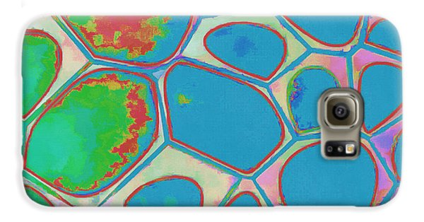 Blue Galaxy S6 Case - Cells Abstract Three by Edward Fielding