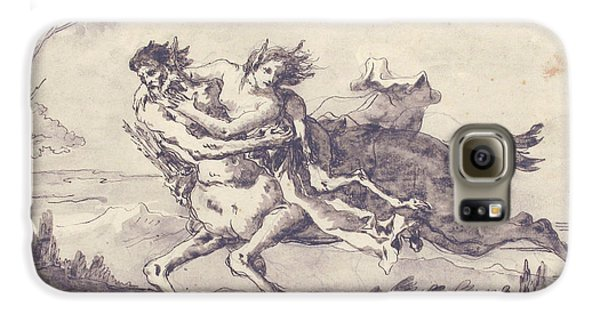 Centaur Galaxy S6 Case - Centaur Abducting A Satyress by Giovanni Domenico Tiepolo