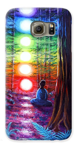 Chakra Meditation In The Redwoods Galaxy S6 Case